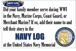 Navy Log Button 250