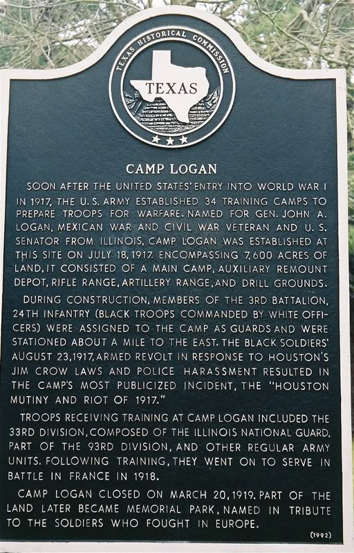 camp logan marker