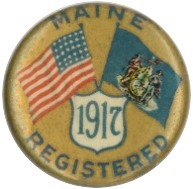 WWI Maine Draft Registration Pin