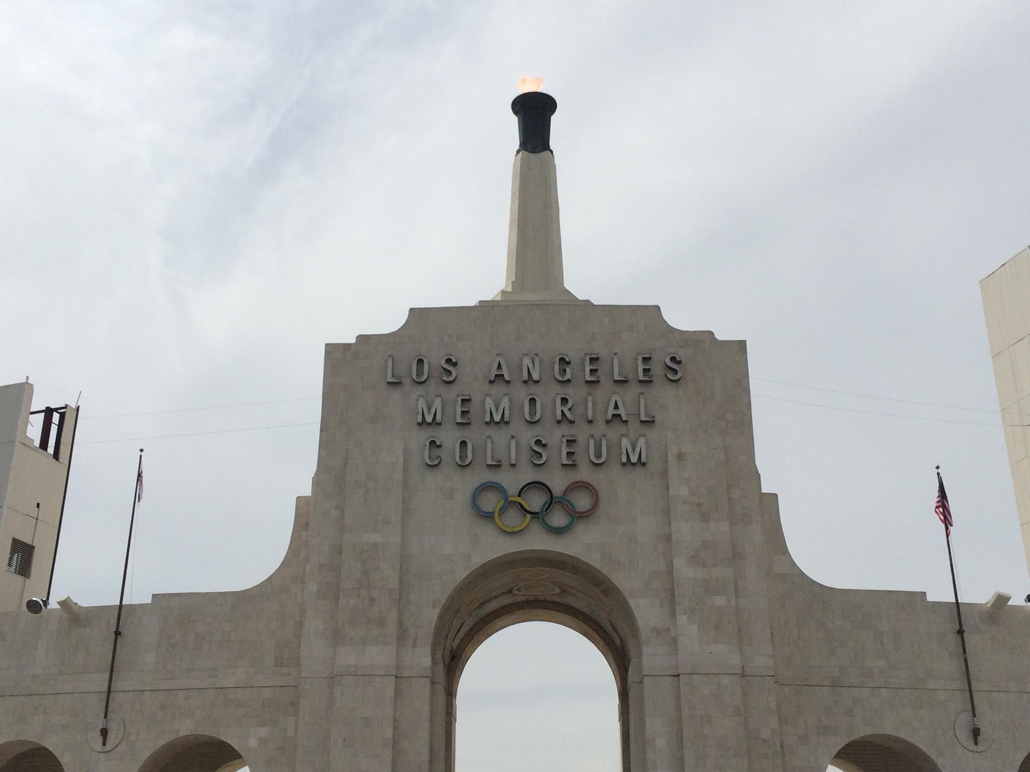 Flags at LA Coliseum