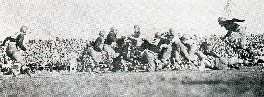 1918 Rose Bowl 003 game action
