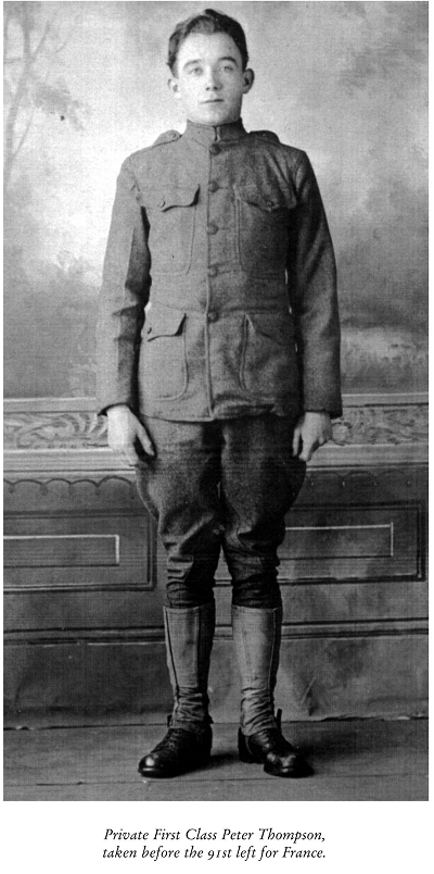Doughboy Peter Thompson 1917 or 1918 400