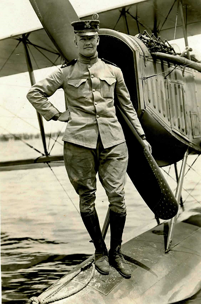 Second Lt. Philip Eaton photographed at the U.S. Navy's flight training school in Pensacola, Florida. (Courtesy of the Coast Guard Aviation Association)