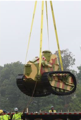 Tank lift at Army Museum