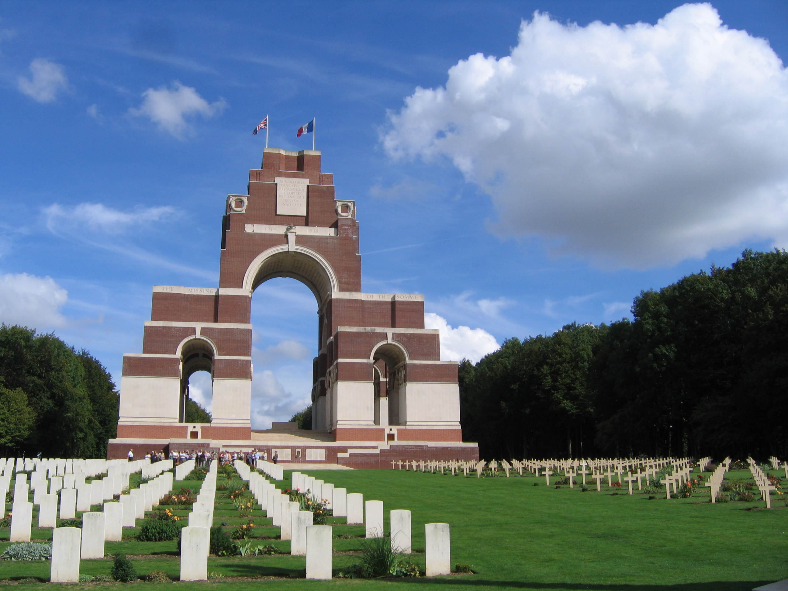 Thiepval Memorial and Anglo French Cemetery