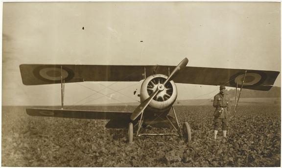 Courtney Campbell and his three wing plane