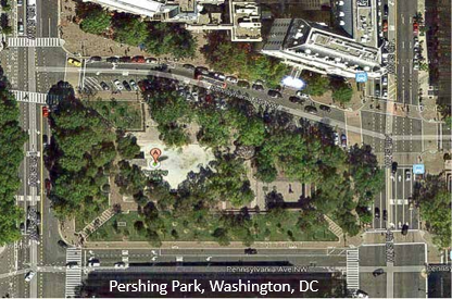 Pershing Park overhead with caption2