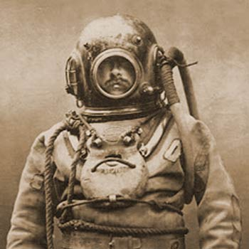 Diving suit of the period