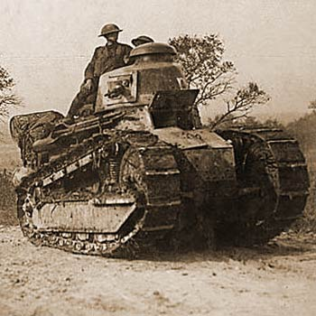 Renault FT tanks being operated by the US Army in France.
