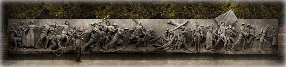 WW1 Memorial sculpture header