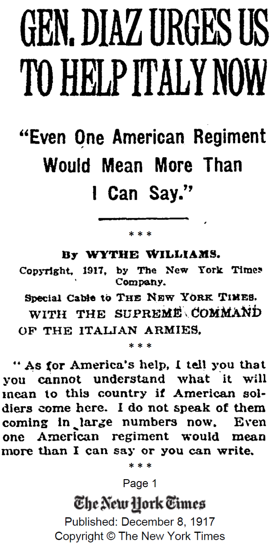 Diaz NYTimes Dec1917