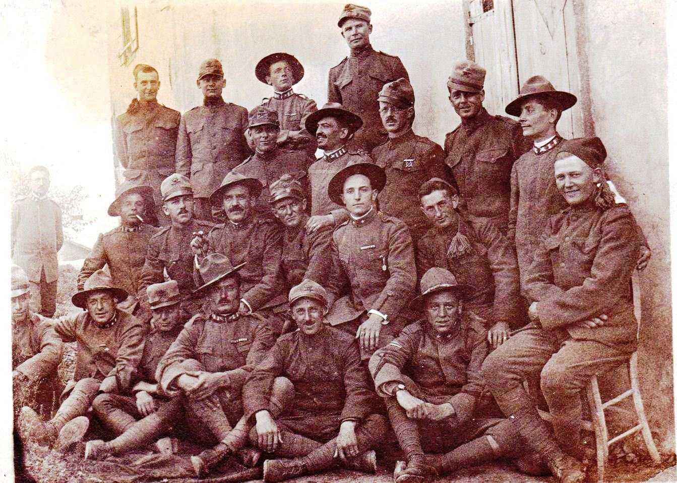 RUTHENBERG Herbert MG Co 332nd with Italian Soldiers