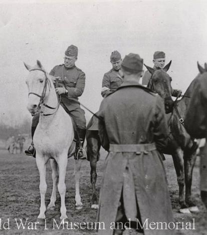 Col. Garrett Chief Sig Officer of the 42nd Rainbow Div horse show 1919 ww1mus