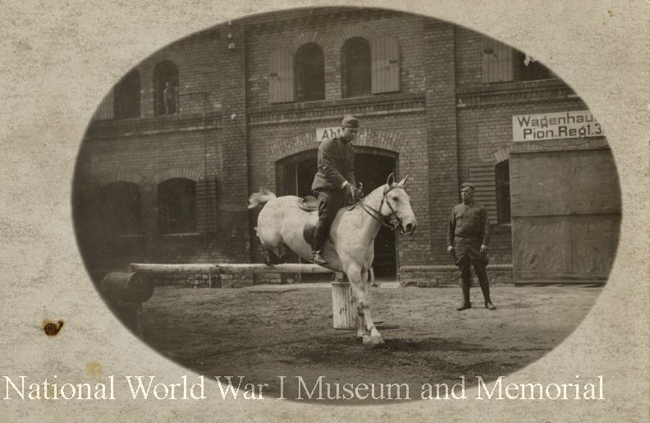 hoese show jumping 1919 vet corps ww1mus