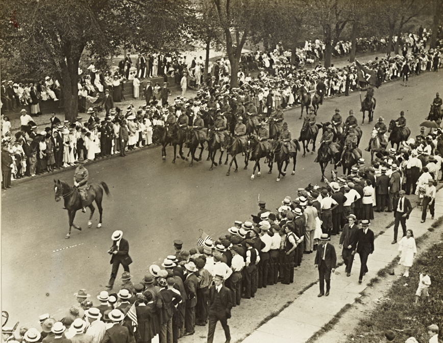 send off parade in New York City Fifth Avenue 30 Aug 1917
