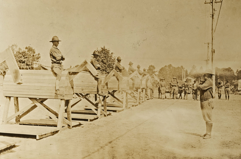 Camp Jackson SC horsemanship instruction 13 Oct 1917