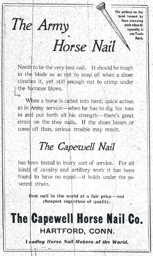 Cav Journal ad Capewell Horseshoe Nail