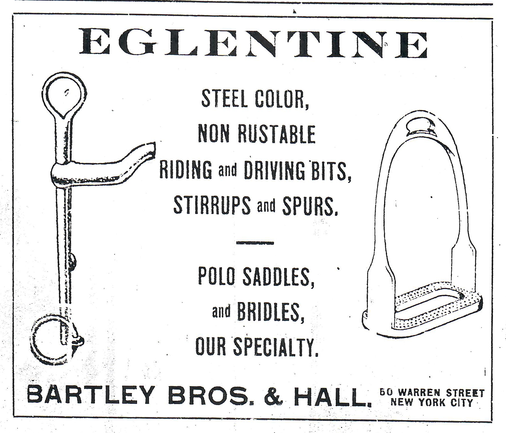 Cav Journal ad eglentine bit and stirrup ad