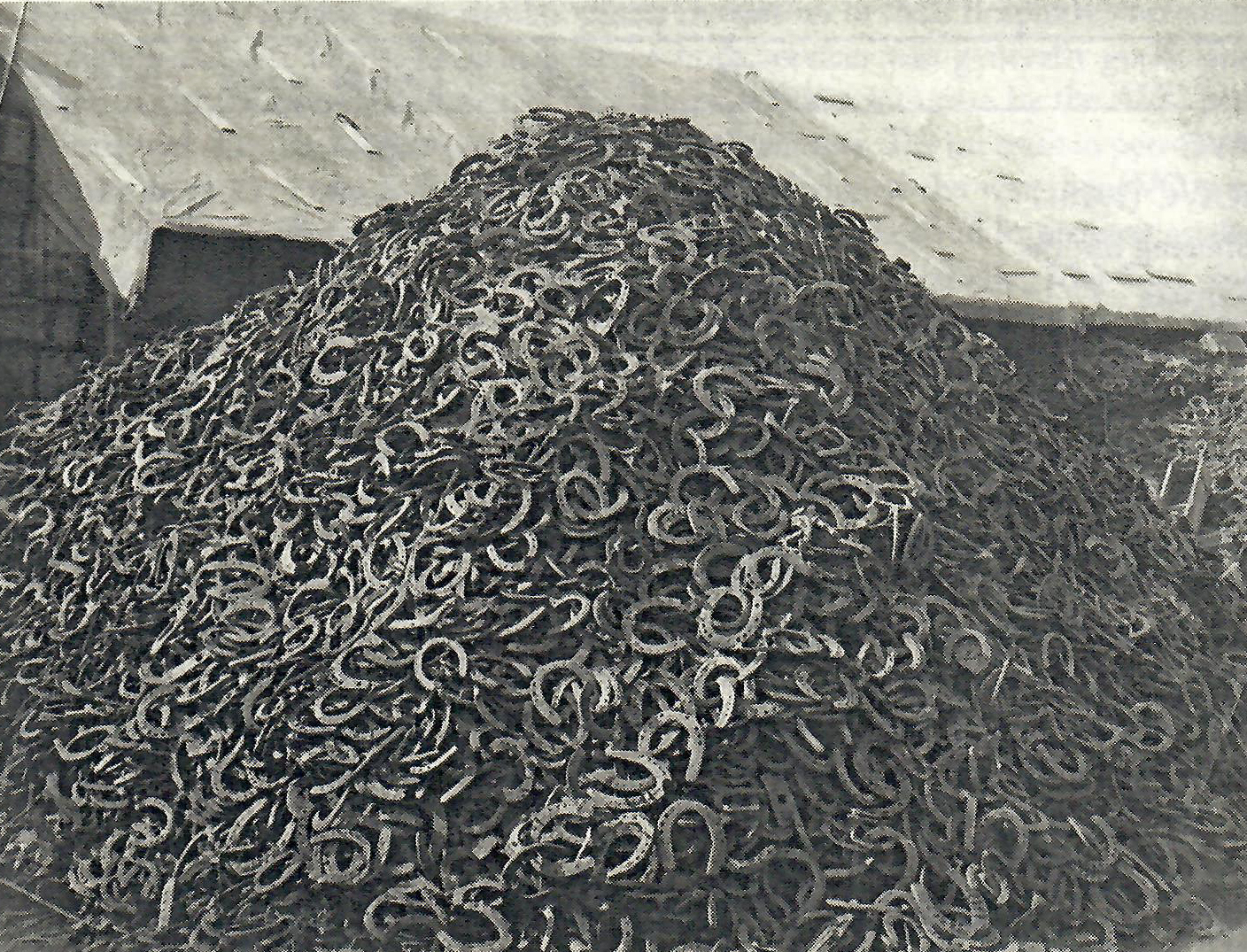 pile of horseshoes Royal Logistic Corps Museum