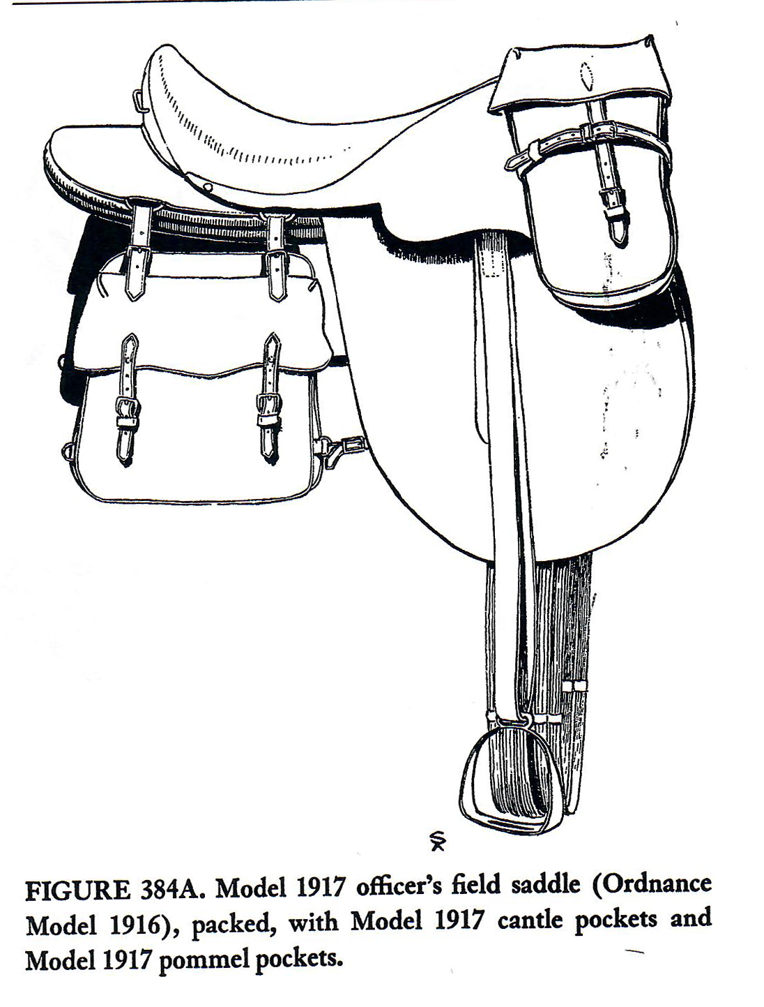 tack officers field saddle