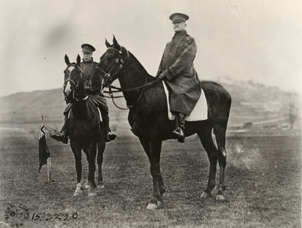 General Pershing and Prince of Wales reviewing troops