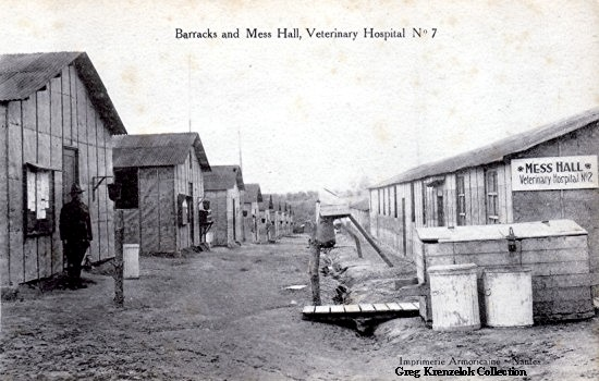 GK Barracks and Mess Hall at Veterinary Hospital No 7 France