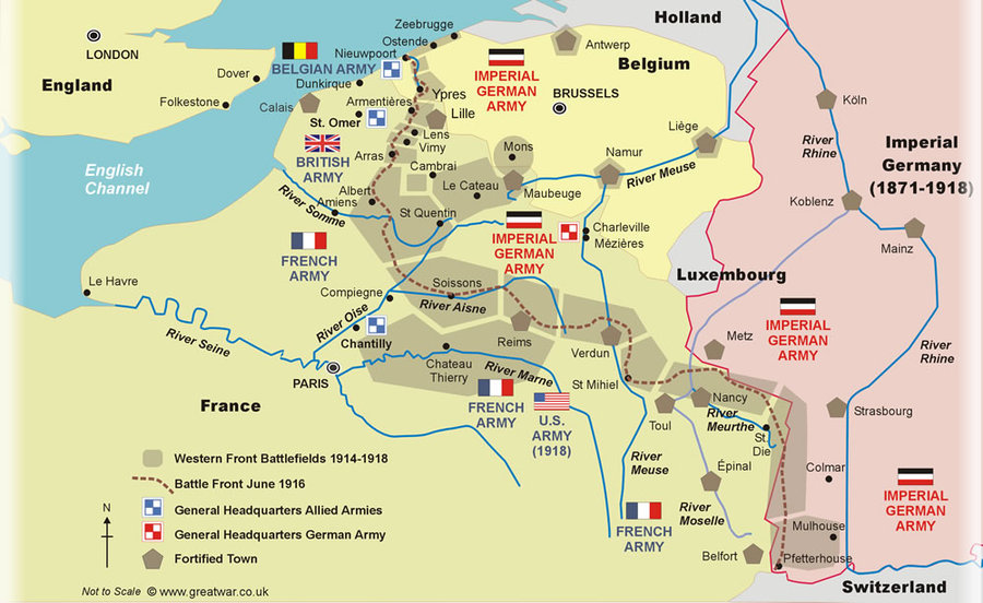 greatwar.com map of western front