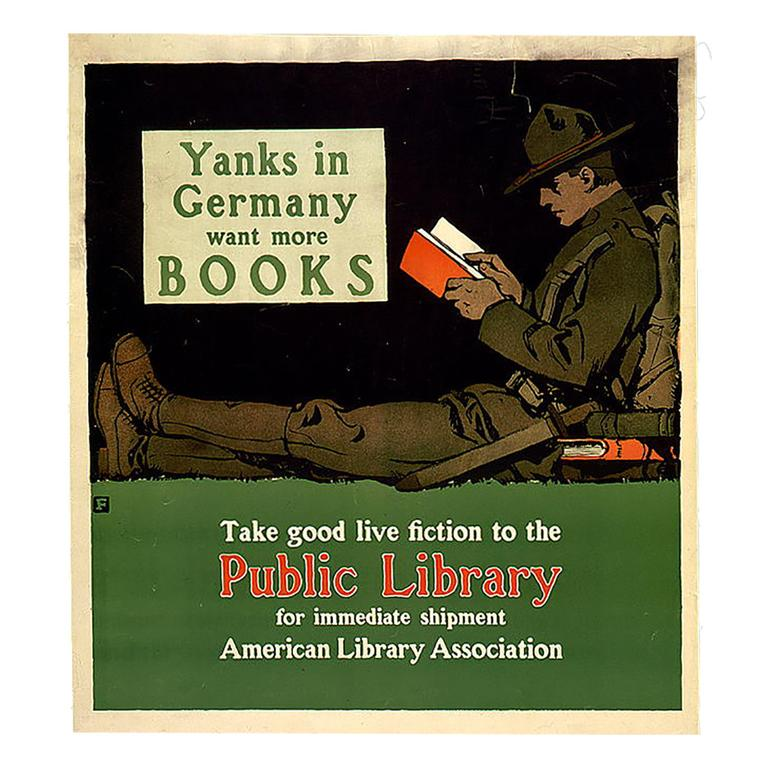 yanks in germany doughboy reading poster