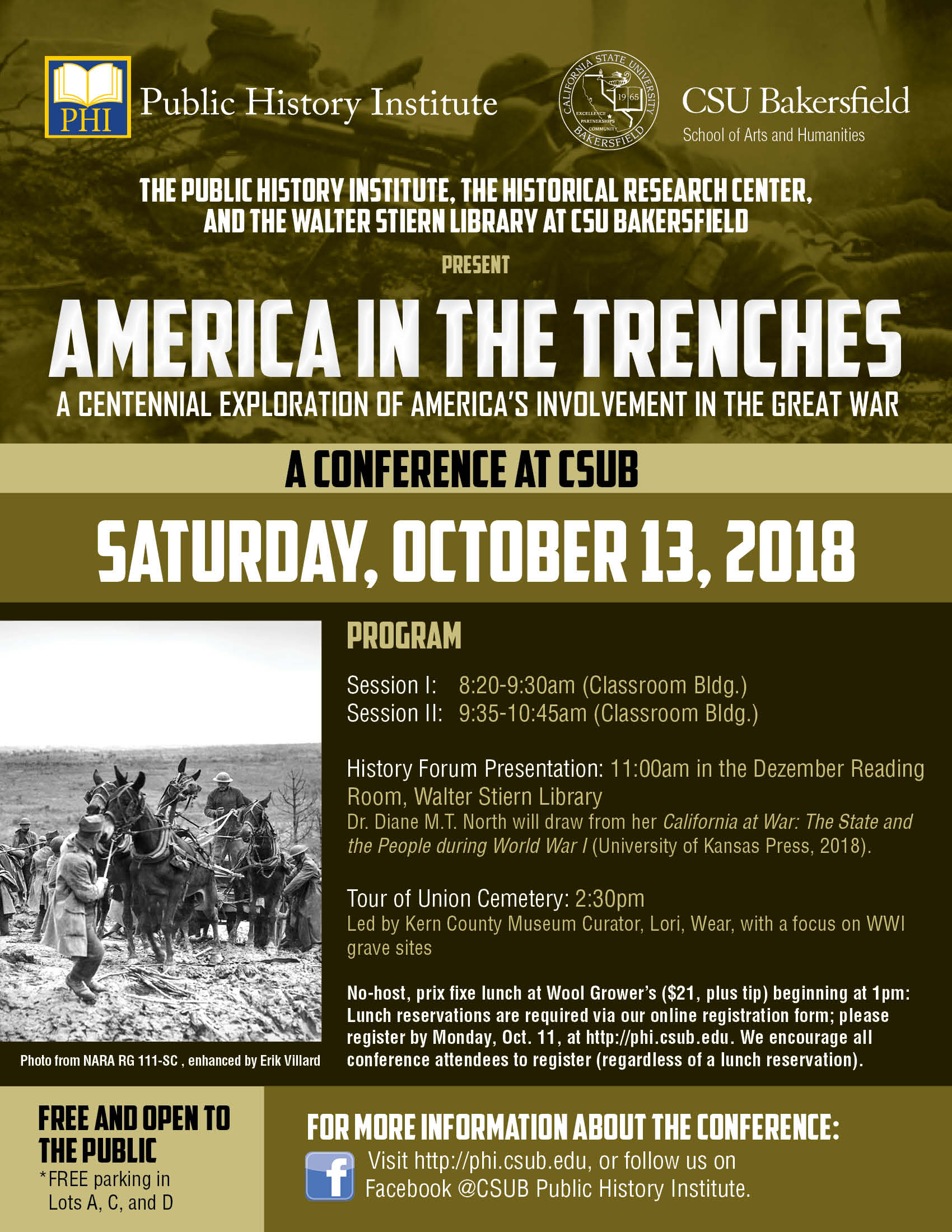 csub america in the trenches poster flyer