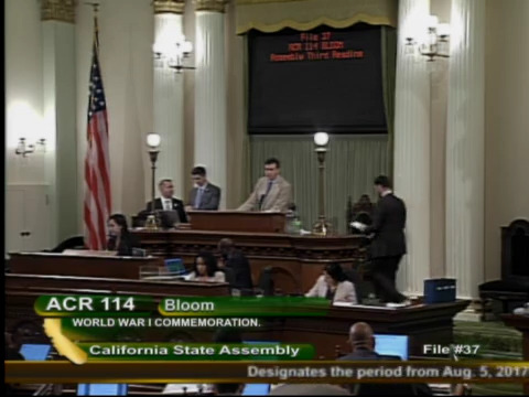 Floor of the California Assembly-considering ARC 114