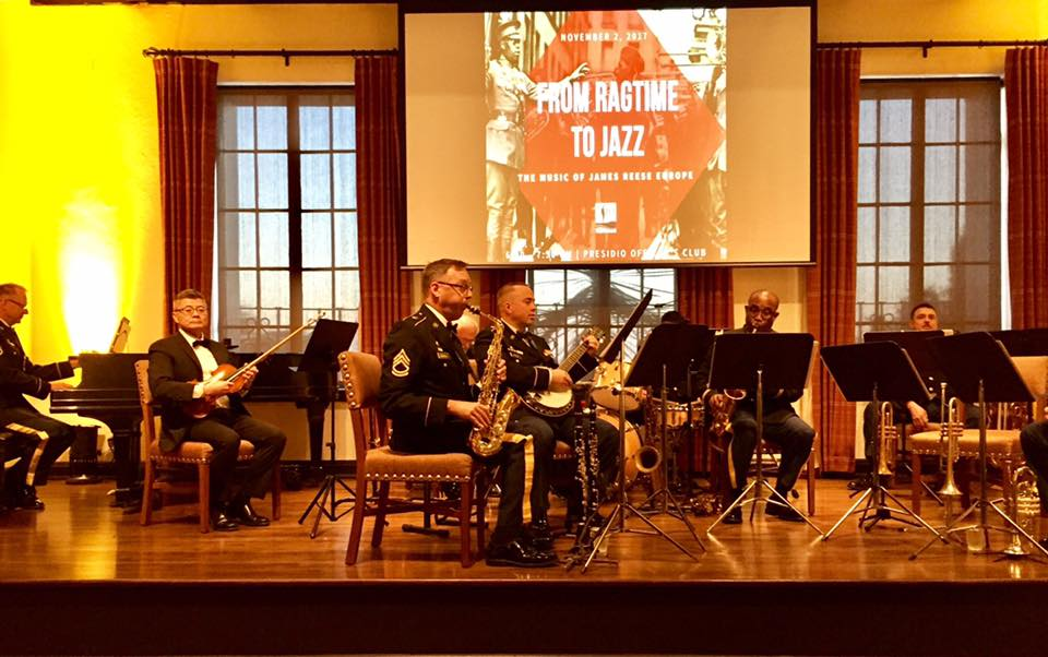 40th Infantry Division Band at the San Fransisco Presidio Officers Club on November 2, 2017