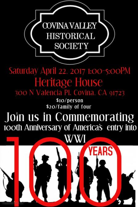 covina valley historical society centennail event poster