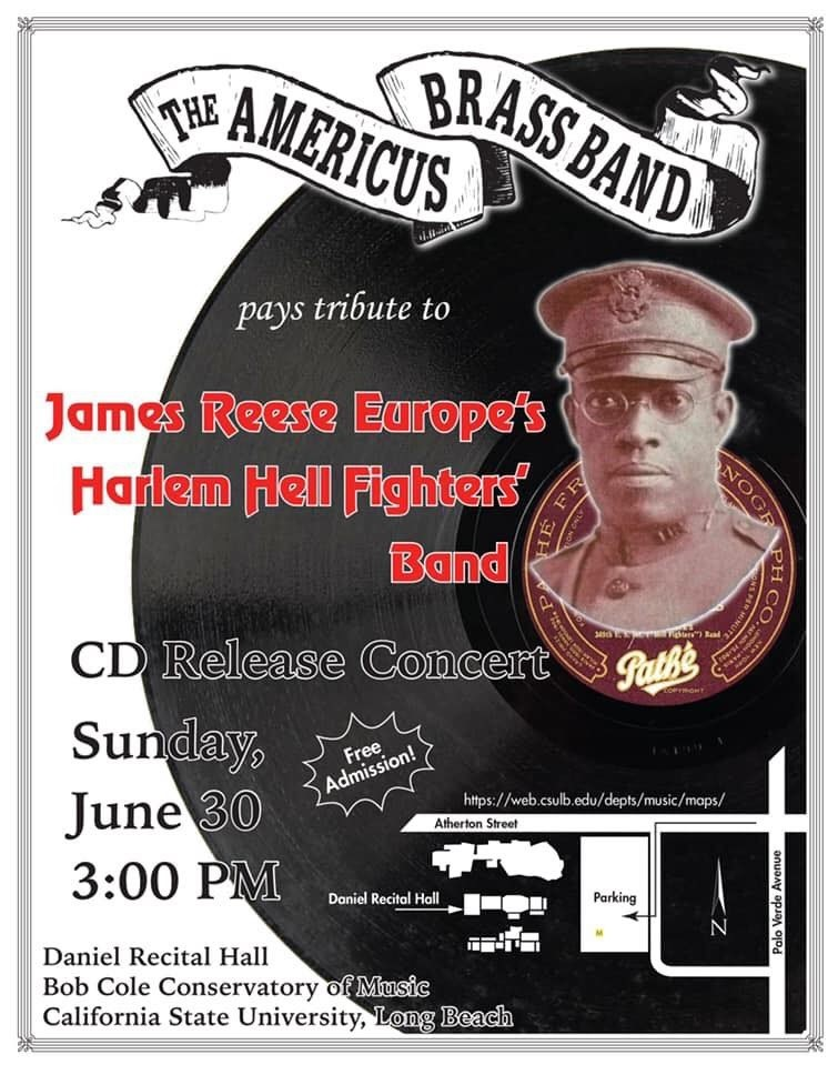 americus brass band cd concert poster