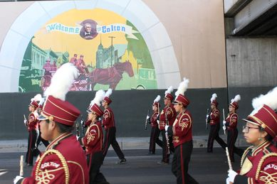 colton hs band veterans parade result