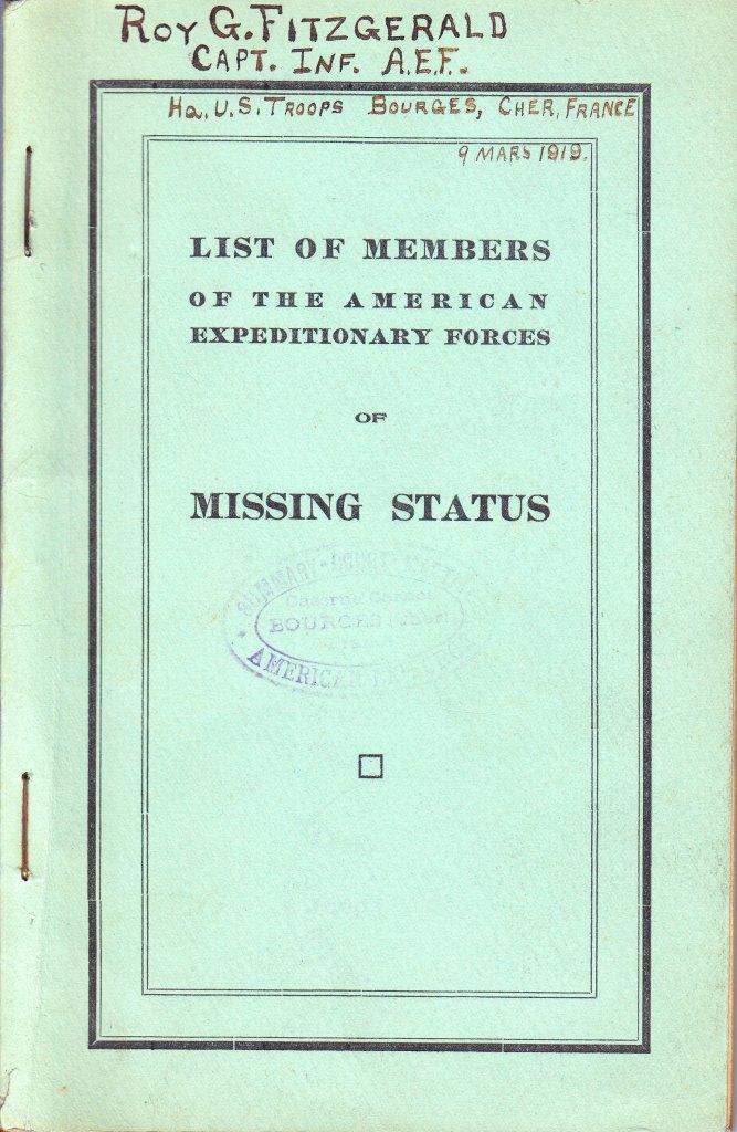Doughboy MIA Database 1917-1920 - World War I Centennial