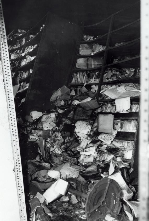 A Fire in St  Louis in 1973 - World War I Centennial