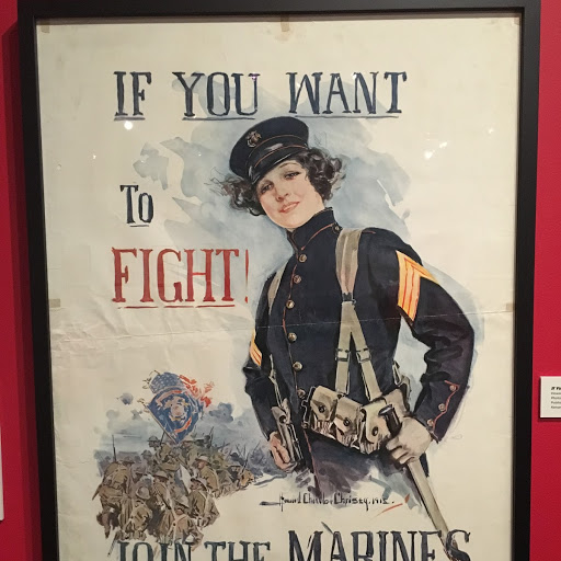If you want to fight, join the marines poster