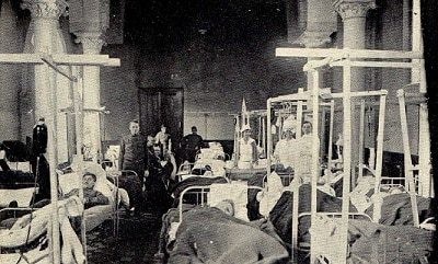During the Emory Unit's time in France, the capacity of the surgical wards at Base Hospital 43 was increased twice to handled casualties.