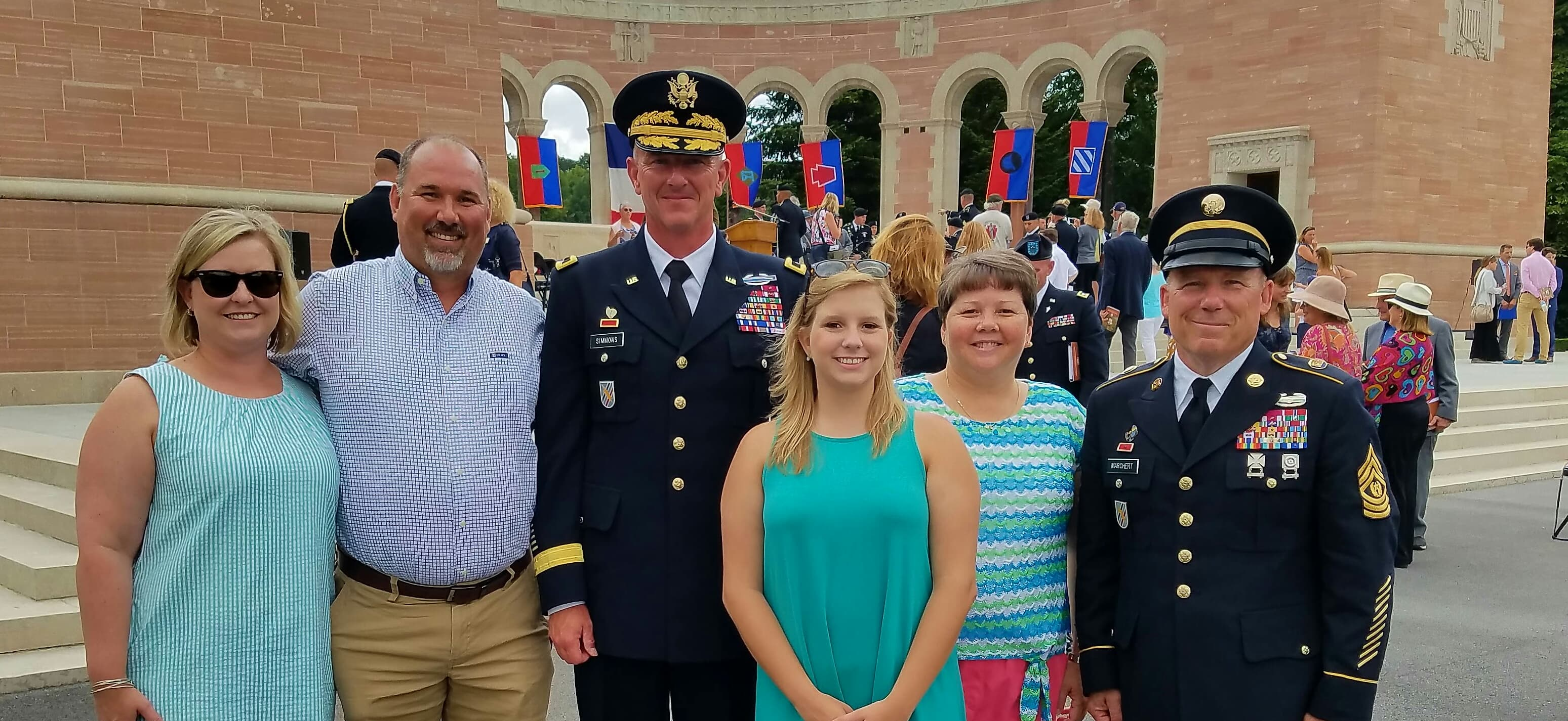 Brooklyn Reese and traveling party in France with GA National Guard officials