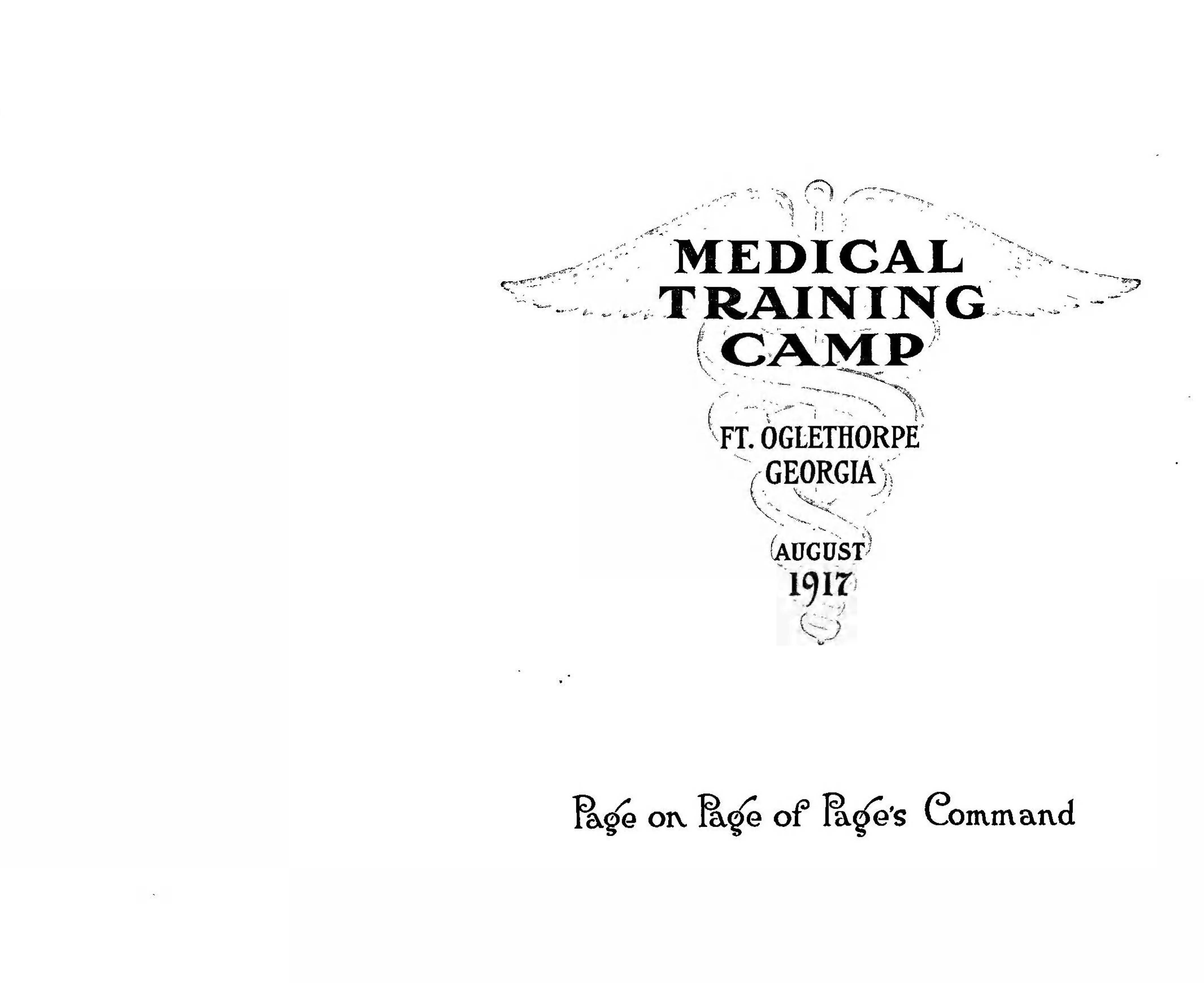 Medical Training Camp Title Page Page 01