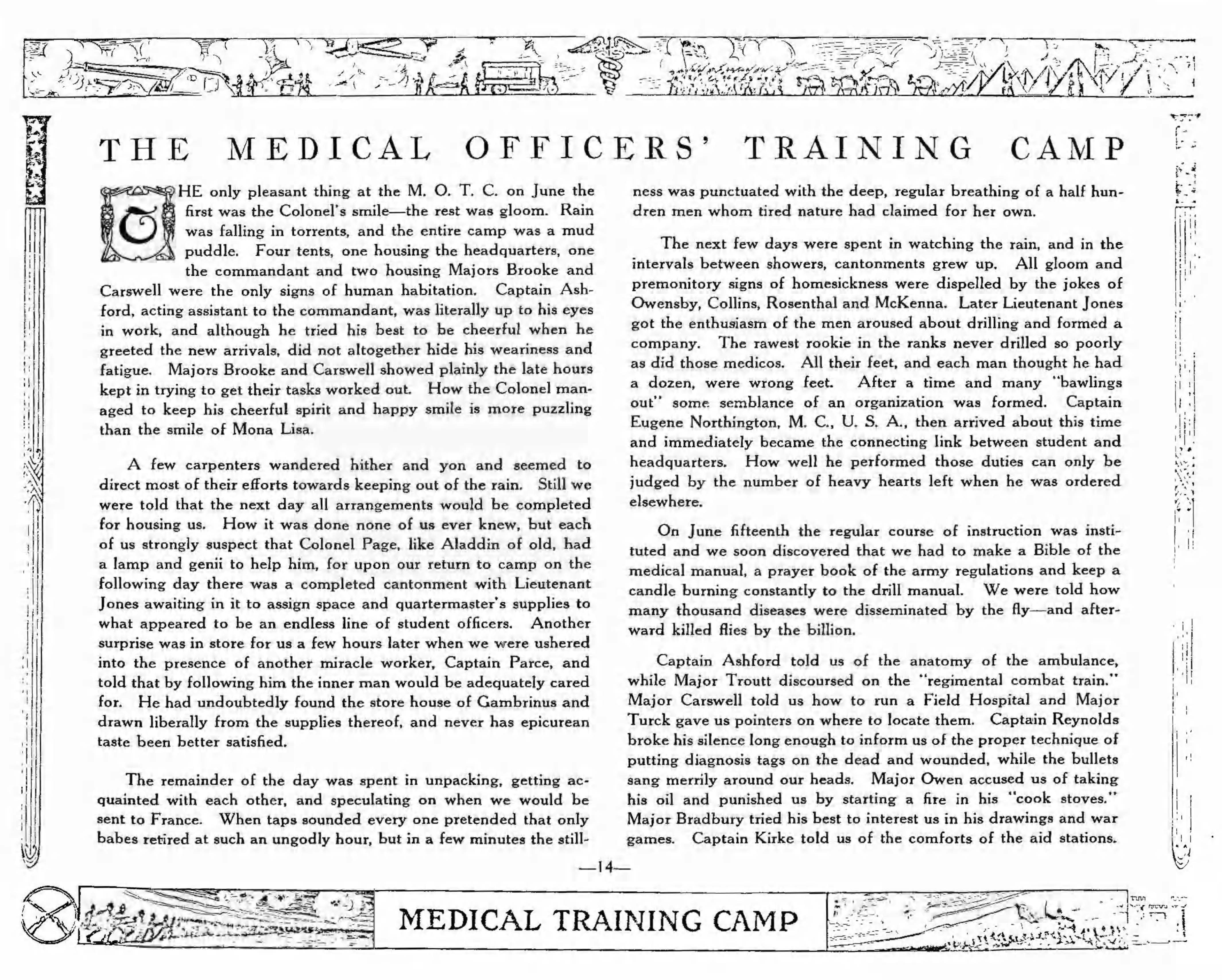 Medical Training Camp pages 14 22