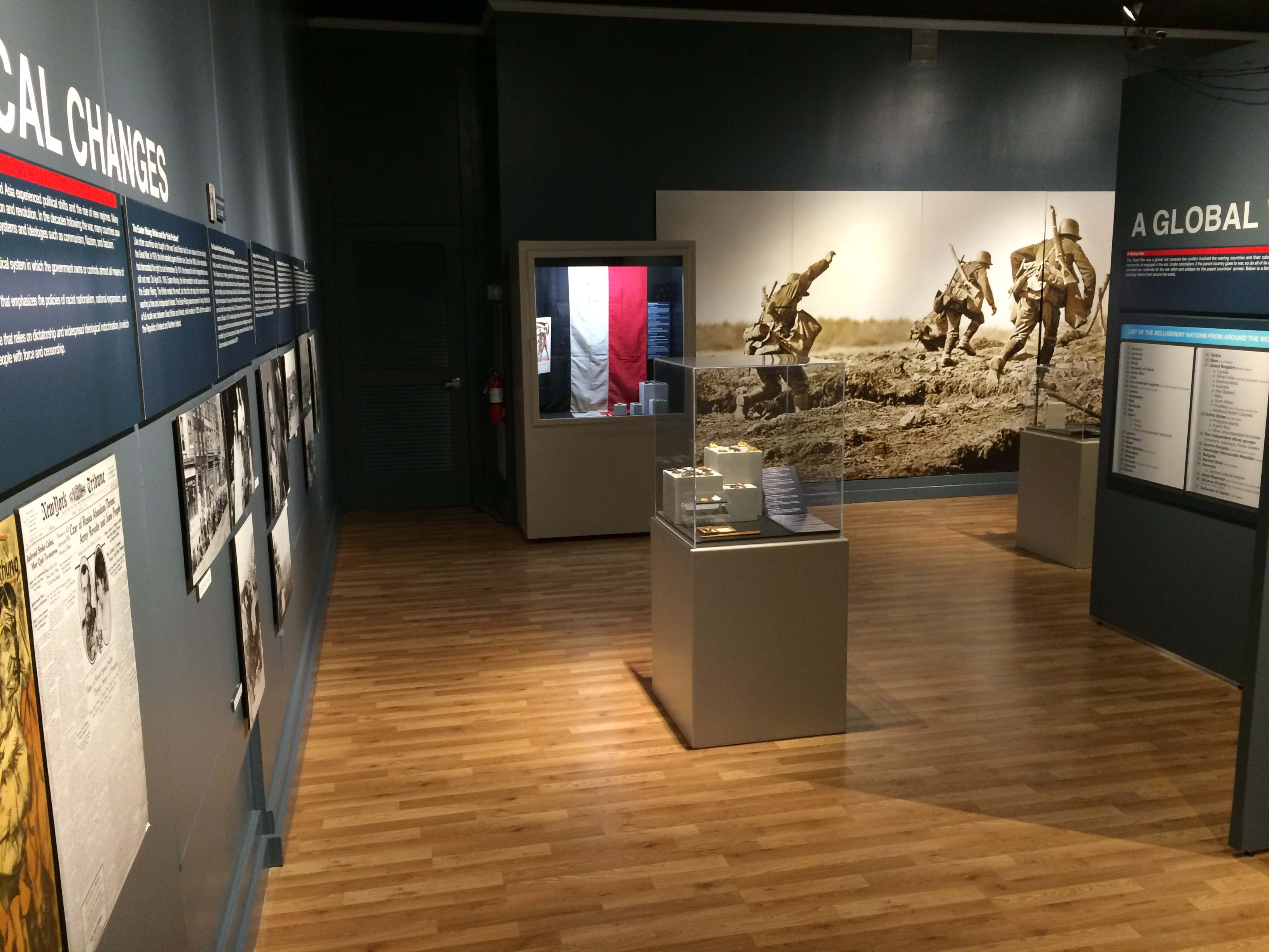 Image of Georgia Southern Museum.  An exhibit is shown here.