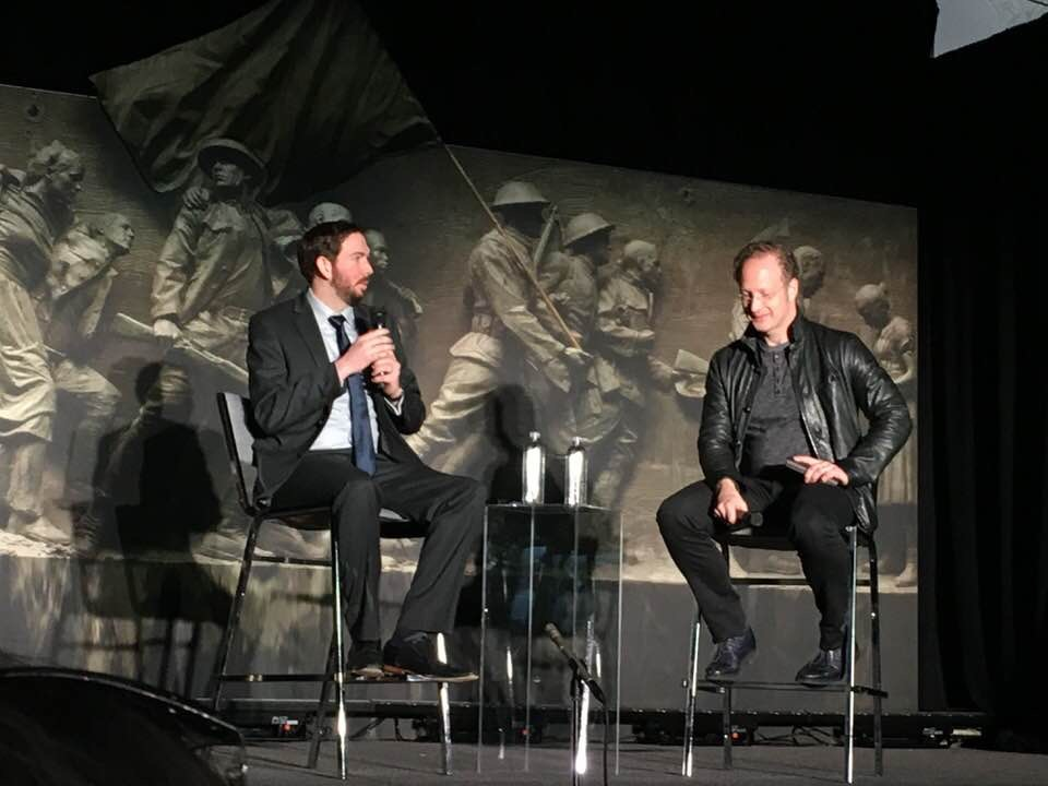 Architect Joe Weishaar and Sculptor Sabin Howard discuss their design and execution of the U.S. World War I Memorial to be built at Pershing Park in Washington, D.C. (photo courtesy Laura McCarty)