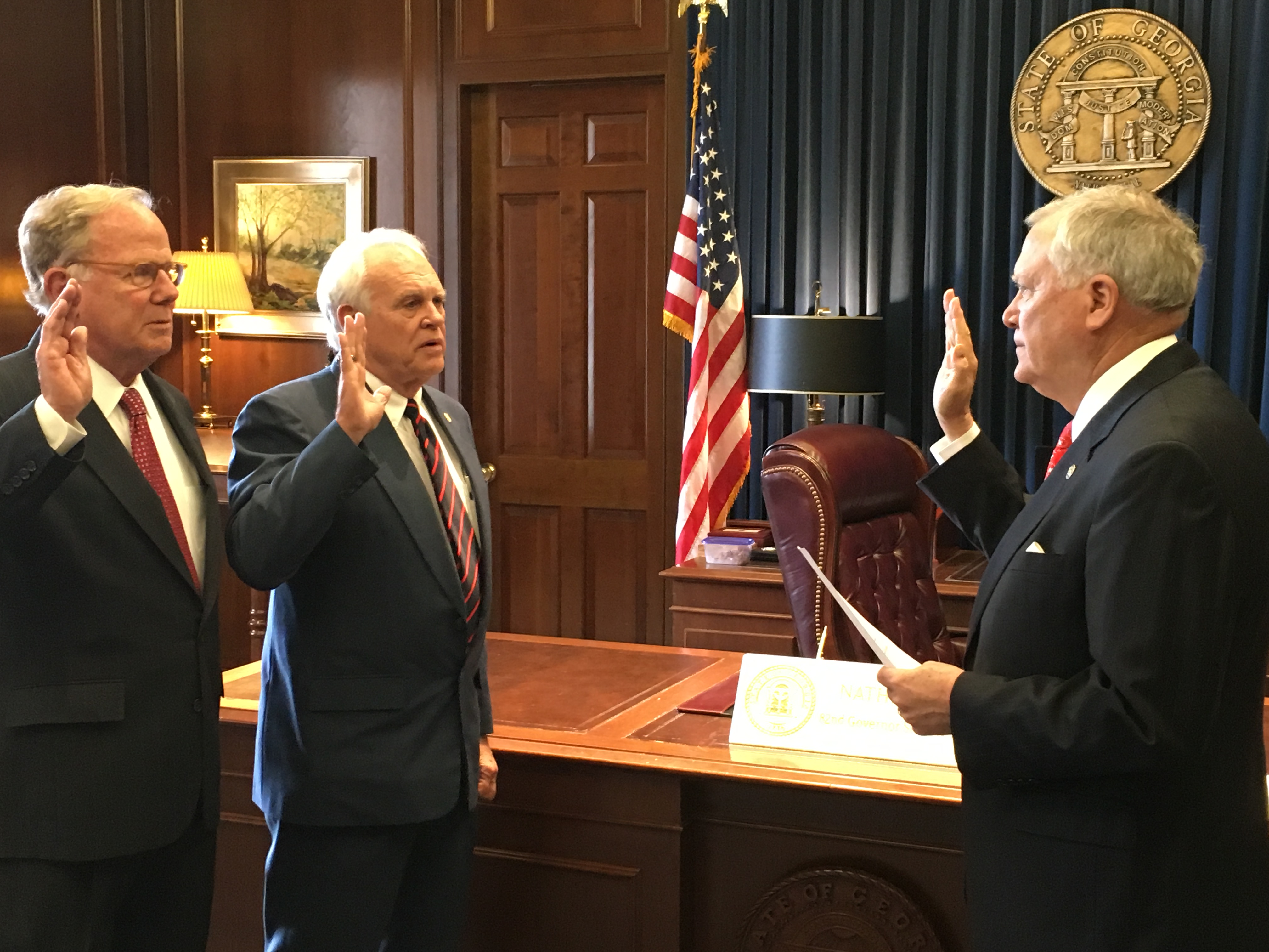 Governor Deal Swearing Appointees