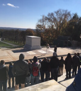 Daniel and family witnessed the laying of a wreath at the Tomb of the Unknowns.