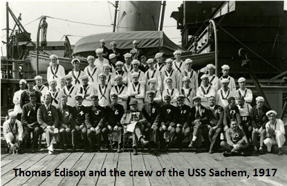 Thomas Edison and USS Sachem Crew