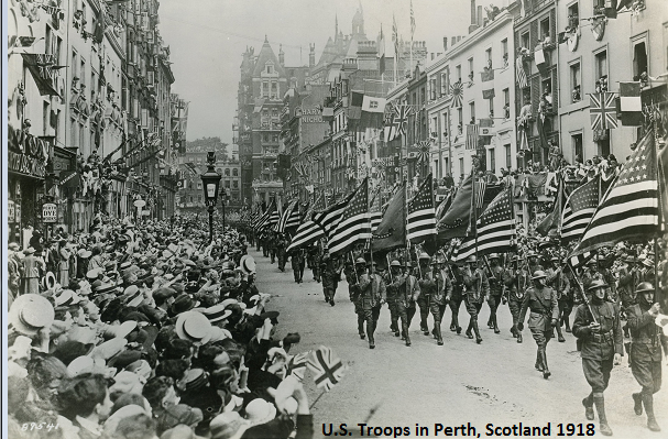 US Troops in Perth Scotland 1918 cutline