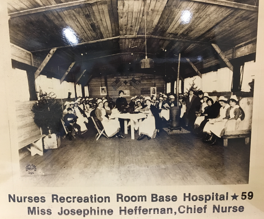 Recreation Room, AEF Base Hospital #59, at Issoudun, Department Indre, France