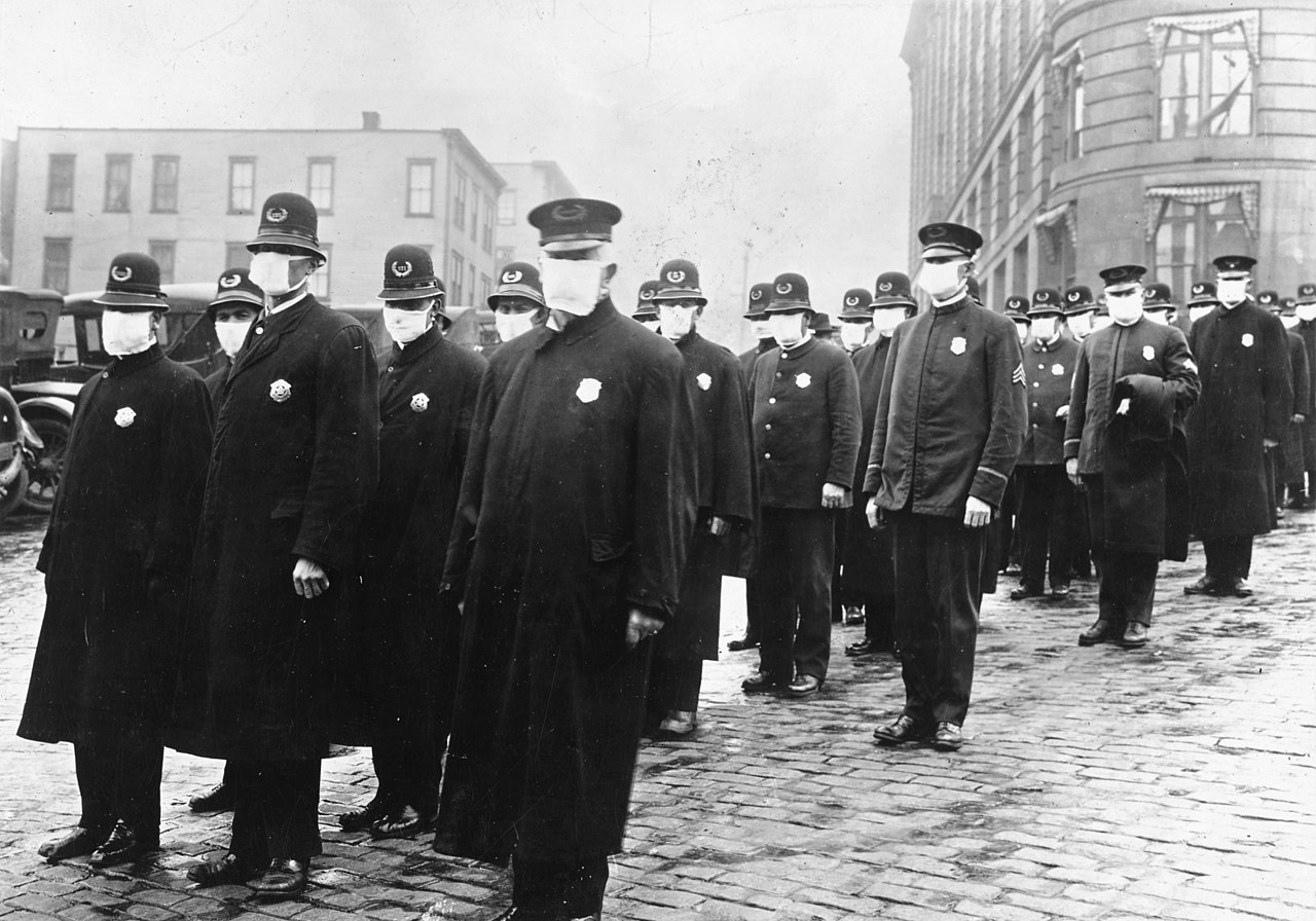 Spanish Flu Policemen Seattle 1918