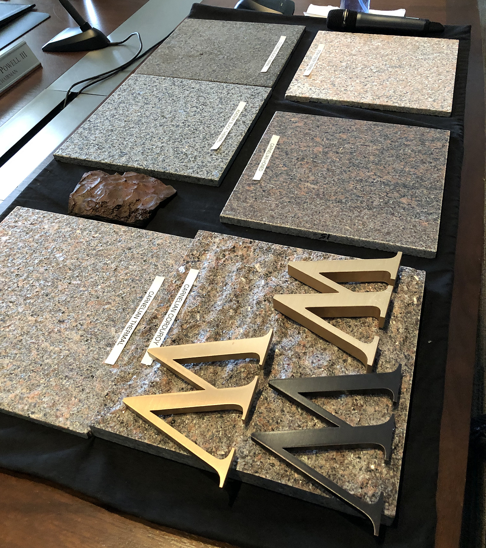 Some of the building material details that were presented to included granite colors etcpng